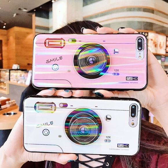 pretty nice b0d30 8e93f iPhone XS/7/8/+❤️️camera phone case with popsocket Boutique